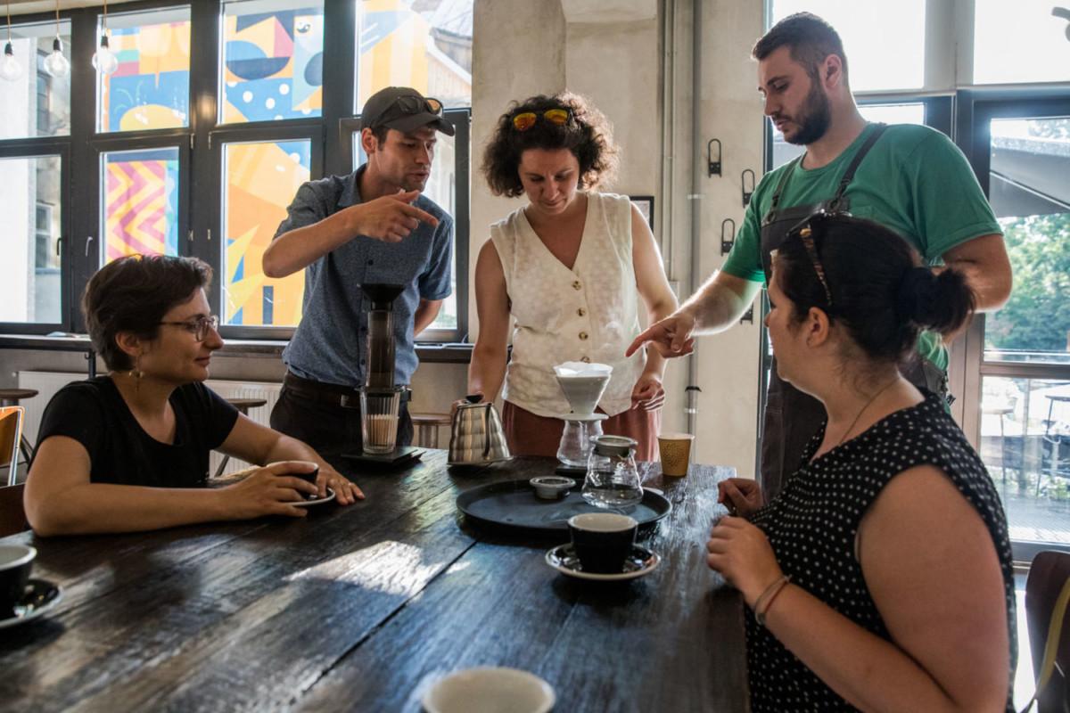 coffee workshop with a60 aeropress