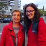 Photo of Ioana - our local guide and our tourist at the meeting point