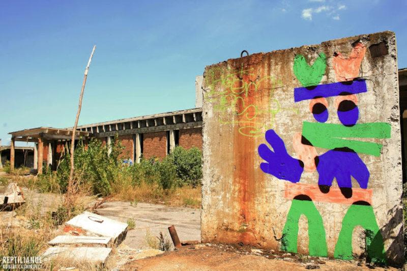 Street art at Chimopar, an old abandoned gun powder factory outside Bucharest.