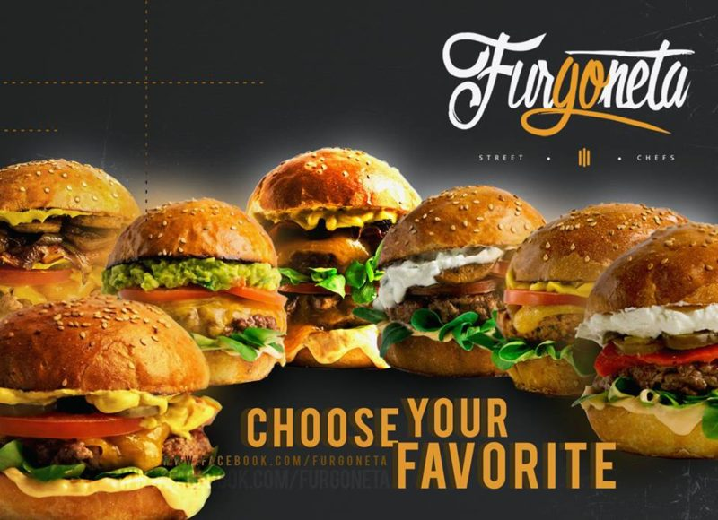 Furgoneta's great selection of burgers
