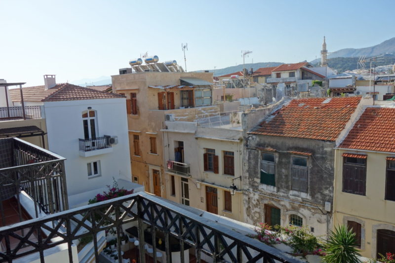 Panoramic view - Old Town, Rethymno, Crete.