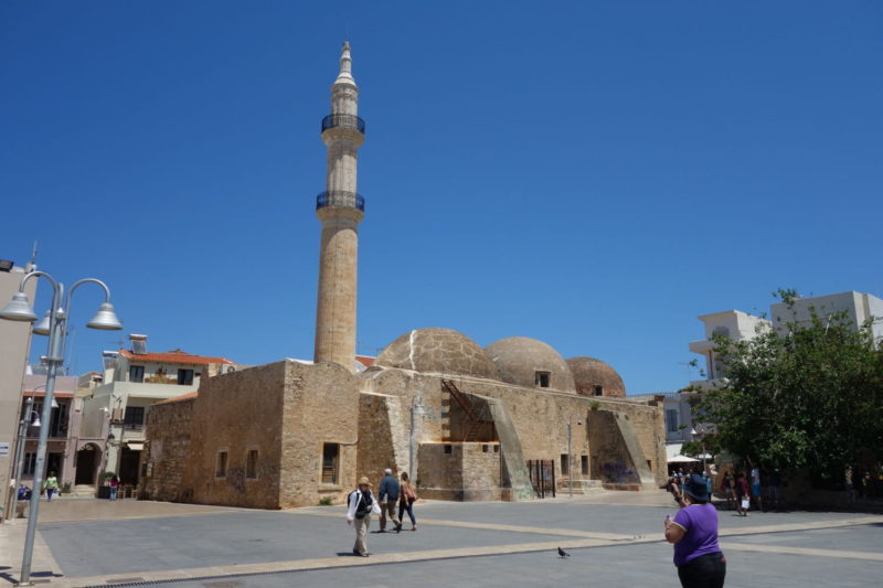 A former mosque in the centre of old town, Rethymno, Crete.