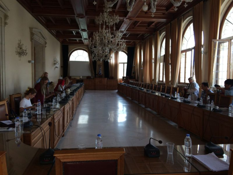 The beautiful conference hall of the former Venetian Loggia, currently Heralkion's City Hall